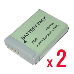 2個)バッテリーパックNB-13L互換品PowerShot SX740 HS / G7 X キャノンG7X用