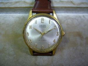 グリュエン GRUEN プレシジョン スイス製 17石 手巻きアンティーク腕時計 メンズ ◇◎