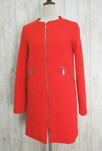 H&M/エイチアンドエム:ジップジャケット レッド 赤 サイズEUR32 US2/レディース/婦人/中古/USED/小さいサイズ