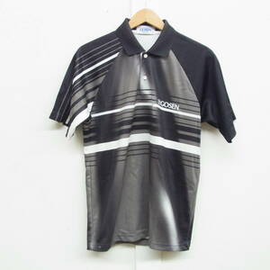 GOSEN ゴーセン☆メンズ ポロシャツ Sサイズ ☆吸汗速乾 メッシュ加工 日本製 ゴルフ ☆スポーツ トレーニング フィットネス