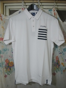 FIDRA フィドラ FDA0307WHT メンズL ポロシャツ ホワイト 白色 ゴルフウエア GolfWear ストレッチ性 吸汗速乾 UVカット 男性用 送料無料