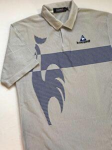 ルコック le coq sportif ルコックスポルティフ ゴルフウェアー メンズ Mサイズ 半袖 ポロシャツ 劣化品 変色