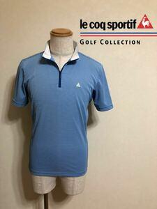 le coq sportif golf collection ルコック スポルティフ ゴルフ コレクション ハーフジップ ウェアー サイズM 半袖 デサント QG2657