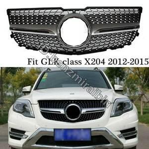 メルセデス GLK クラス 2012年 - 2015年 GLK200 GLK220 GLK250 GLK350 5ドア SUV X204 ダイヤモンド グリル フロント バンパー ベンツ