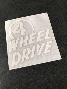 送料無料♪US輸入 四駆 4WHEEL DRIVE ステッカー 白色 アメ車 4wd タンドラ 4ランナー ランクル プラド パジェロ ハマー FJ