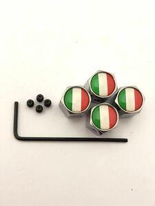 イタリア 国旗 エアー バルブキャップ イモネジ レンチ 盗難抑止 フェラーリ Ferrari 575 599 612 F12 F355 イタリア カリフォルニア