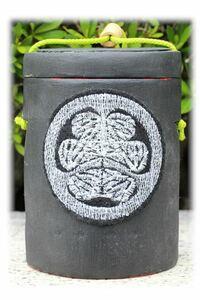 はんどめいど オリジナル ハンドメイド 印籠 インテリア雑貨 和雑貨 小物入れ 刺しゅう 家紋 葵 竹細工 プレゼント
