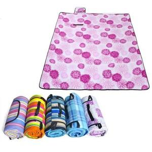 雑貨 アウトドア キャンプ レジャーシート フリース 花柄 折り畳み可 約2m×約1.5m ピンク