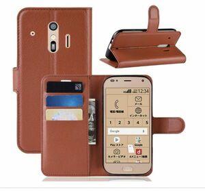 らくらくスマートフォン me F-01L F-42A docomo ケース 手帳型 スタンド f42a f01l カバー pu レザーデザイン カード 収納 ポケット1