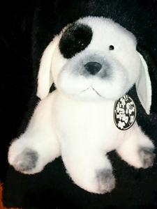 新品 レトロ 三英 なんだよ 犬 レア ぬいぐるみ 昭和レトロ 80年代 昭和 ファンシー 人形 イヌ いぬ ブチ犬 おもちゃ サンエートーイ 玩具