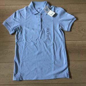 新品 未使用 タグ付 ユニクロ ポロシャツ 女性用 XS 色 61 青 150~160cm