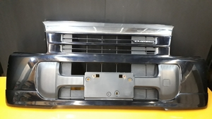 H14 バモス 中期 HM1/2 純正 フロントバンパー エンブレム付:黒 B92P ターボ 4WD HM3/4 ホビオ HH5/6 アクティー HA6/7 トラック ホンダ