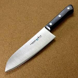 関の刃物 三徳包丁 17cm (170mm) TSマダム AUS-8 クロムモリブデン ステンレス 家庭用 肉 魚 野菜切り 両刃万能包丁 文化包丁 日本製