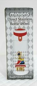 即決【ミニオンズ】ダイレクトステンレスボトル キングボブver. ハンドル付き 容量480ml マイボトル 水筒 熱中症対策 未使用品
