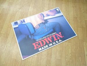 エドウィン パネル 横84cm×縦60cm 壁掛け可能 デニム ジーンズ EDWIN 販促 インテリア雑貨 コレクション等に