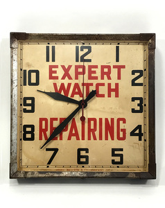 1930's アンティーク アドバタイジングクロック/壁掛け時計/ビンテージ/ハンガー/o.c.white/ビンテージ/ハーレー/ガレージ/ボバー/店舗什器