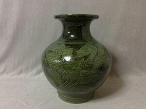 QE1966/壷 花瓶 宮古島 壷屋焼 在銘「信」重さ約5.5kg
