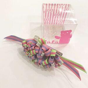 【新品未使用】fafa フェフェ ヘアクリップ リボングリーン ピンク パープル アメリカン キッズ ヘアアクセサリー