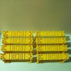 プラレール【同梱OK】複線 橋脚 8個 黄色 ※一部に欠け有り