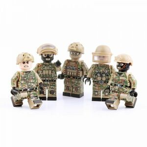 【新品・即決!!】LEGO レゴ MOC 互換 ソルジャー 特殊部隊 ロシア スペツナズ 陸軍 アーミー カスタム ミニフィグ 5体セット 兵器付き 052