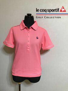 le coq sportif GOLF COLLECTION ルコック ゴルフ ウェア レディース ドライ ポロシャツ トップス サイズS 半袖 ピンク デサント QGL1651