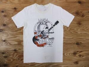 BEAMS ビームス レディース FUJI ROCK FESTIVAL フジロック 2007 スタンリーマウス スカル ギター プリントTシャツ 白 M