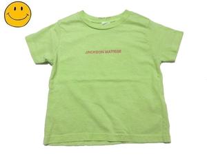 18SS 新品 JACKSON MATISSE KIDS Pigment Tee ジャクソンマティス キッズ 刺繍ロゴ Tシャツ 男の子 女の子 グリーン 緑 110 (4T)