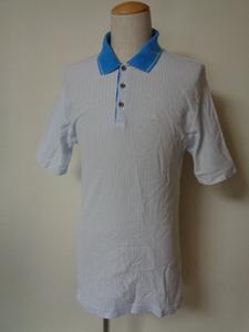 lecoq sportif golf 半袖ポロシャツ メンズL ルコックゴルフ 国内正規品 デサント ストライプ