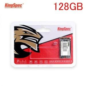 ★最安 安心の国内対応★KingSpec SSD mSATA 128GB 新品未開封 3D NAND TLC 内蔵型 MT-256 デスクトップPC ノートパソコン
