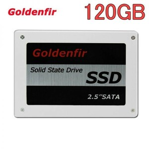 ★最安 安心の国内対応★SSD Goldenfir 120GB SATA3 / 6.0Gbps 新品 2.5インチ 高速 NAND TLC 内蔵 デスクトップPC ノートパソコン