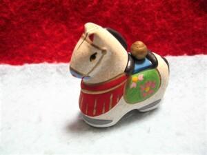 【福】 助六?土人形 宝珠乗せ午 うま ウマ 馬 東京 郷土玩具