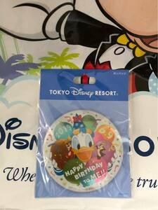 TDR★ディズニーリゾート☆ハッピーパースデートゥーミー2019ドナルドカンバッジ缶バッジ★ディズニーランドディズニーシー☆TDLTDS