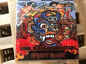 длинный пляж Dub все Star z/LONG BEACH DUB ALLSTARS стикер / наклейка размер примерно длина 10 см ширина 10 см ( вспомогательный lime /SUBLIME)