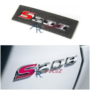 スバル WRX VA STI エンブレム S208 ステッカー インプレッサ 汎用 シルバー