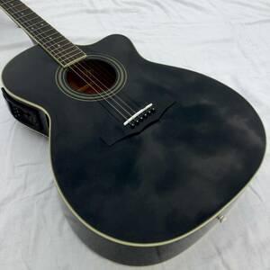 【Morris アコースティックギター ブラック】モーリス 黒 エレアコ アコギ エレクトロニック AG 初心者 中級者 向け 入門用