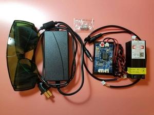 7000mw(7w) レーザー彫刻機用レーザーモジュール 445nm 12V ブルーライトレーザー blue light laser moule 電子工作用