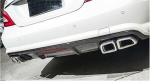 送料無料メルセデス W218 CLS エアロ ディフューザー カーボン CLS350 CLS63 AMGバンパー対応 リアバンパー 2011-14年