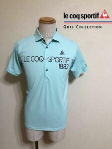 【美品】 le coq sportif golf collection ルコック ゴルフ コレクション ドライ ポロシャツ ウェアー 半袖 サイズM QG2926 デサント