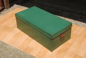 M447 [ steel BOX* storage box * toy box ] green * length 76 centimeter