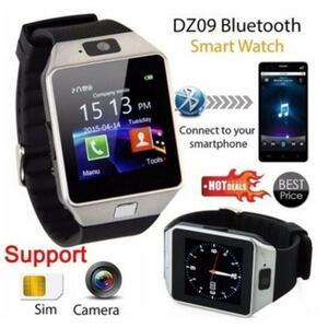 【送料無料】腕時計 海外ブランド 日本語非対応 スマートウォッチ Android/iOS DZ09 Bluetooth シルバー