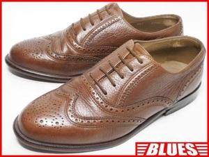 即決★BALLY★25cm レザーウイングチップシューズ バリー メンズ 茶 ブラウン 本革 ドレス 本皮 レースアップ 革靴 ヒール ビジネス