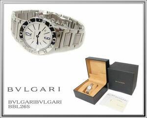 ☆美品BVLGARI/ブルガリ レディース腕時計 ブルガリブルガリ BBL26S ホワイトシェル送料税込み!
