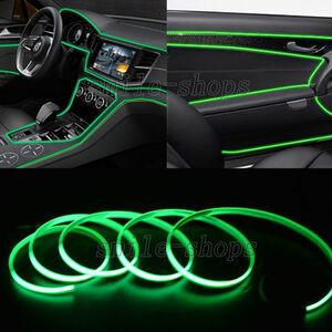 【シガーソケット電源付属】 有機ELテープ 緑 グリーン DC12V 車のアクセサリー ネオンテープ ネオンモール LEDテープとの組み合わせも◎