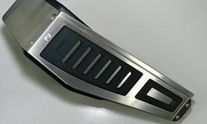 VW ゴルフ7/ゴルフ7.5用 レフトサイド・4Dフットレスト【maniacs/マニアックス製】新品/GOLF7/GOLF7.5/Passat(B8)/Arteon/