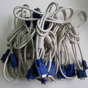 ^10 шт. комплект vVGA кабель D-SUB15 булавка б/у товар белый v