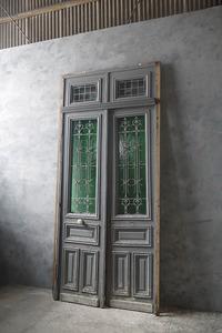 antique France extra-large iron .. wood door door . gate