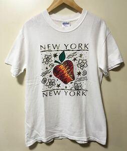 NEW YORK ニューヨーク アップル プリント Tシャツ サイズ M アメリカにて購入