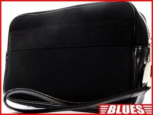 即決★Dunhill★レザーコンビセカンドバッグ ダンヒル メンズ 黒 ブラック かばん 通勤 ハンド 出張 カバン 鞄 クラッチバッグ
