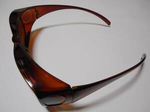 即決 未使用 メガネの上からでも装着OK サングラス 99%UVカット 花粉メガネ 花粉対策 オーバーグラス ゴーグル メガネ オーバーサングラス.