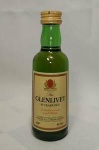【全国送料無料】グレンリベット12年 アンブレンデッド Glenlivet 12 years old Unblended all malt  43度 47ml